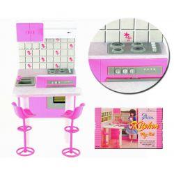 KUCHNIA bar ROSE wysokie krzesła mebelki Barbie EduCORE Dla Dzieci