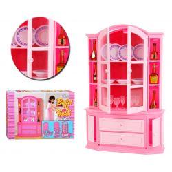 KREDENS bufet zastawa 38 el mebelki Barbie EduCORE Dla Dzieci