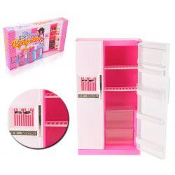 LODÓWKA duża półki lód mebelki Barbie EduCORE Mebelki dla lalek