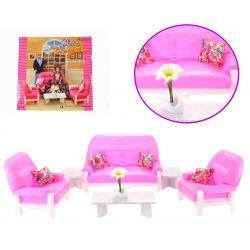 SALON salonik ROSE sofa fotele mebelki Barbie EduCORE Dla Dzieci