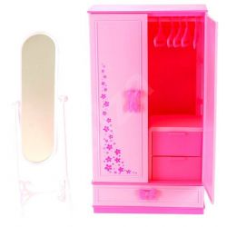 SZAFA ROSE stojące lustro mebelki Barbie EduCORE Zabawki