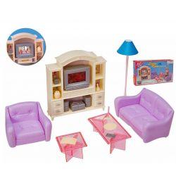 SALON HIPSTER TV kanapa mebelki Barbie EduCORE Zabawki