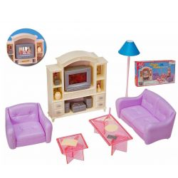 SALON HIPSTER TV kanapa mebelki Barbie EduCORE Dla Dzieci