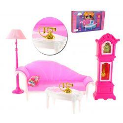 SALON zegar lampa VINTAGE mebelki Barbie EduCORE Zabawki