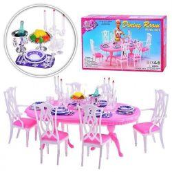 JADALNIA stół 78 elem VINTAGE mebelki Barbie EduCORE Dla Dzieci