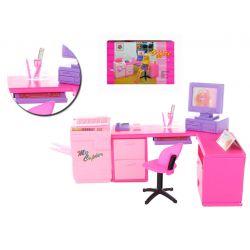 Gabinet biuro laptop mebelki Barbie EduCORE Zabawki