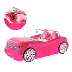 AUTO różowe cabrio brokat mebelki Barbie EduCORE Dla Dzieci