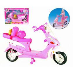 MOTOR różowy skuter kask  mebelki Barbie EduCORE Zabawki
