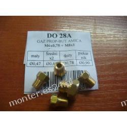 Dysze na gaz propan-butan do kuchni AMICA M6x0,75 + M8x1