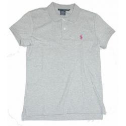 POLO RALPH LAUREN koszulka szara POLÓWKA t-shirt