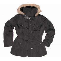 K&L puchowa kurtka płaszcz futro CZARNA  XL