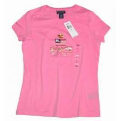 POLO RALPH LAUREN koszulka bluzka RÓŻOWA t-shirt