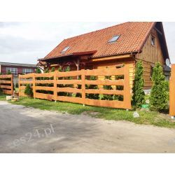 """Ogrodzenie drewniane typu """"RANCZO"""" Ogrodzenia i bramy"""