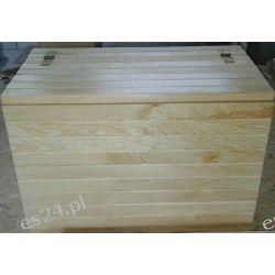 Skrzynia drewniana siedzisko schowek Meble
