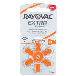 Rayovac Extra 13 EMF / PR48 – baterie do aparatów słuchowych - 6 szt.