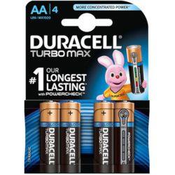 Baterie Alkaliczne Duracell Turbo Max AA (paluszki duże) - 4szt.