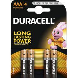 Baterie Alkaliczne typ AAA LR03 1,5V (paluszki małe) - 4szt. Duracell