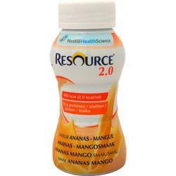 Nestle Resource 2.0 - drink ananas + mango 4x200ml - 1 opak.