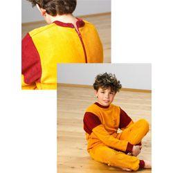 Koszula nocna dla dzieci frotte - długi rękaw