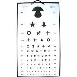 Tablica okulistyczna dla dzieci grzybek.