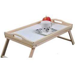 Stolik pomocniczy do łóżka z rozkładanymi nóżkami