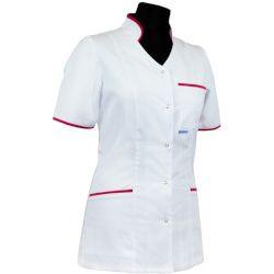 Bluza medyczna dla pielęgniarki 011 - stójka leżąca wypustka lub lamówka