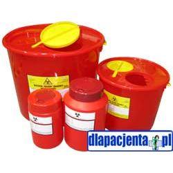 Pojemnik na odpady medyczne wiaderko - plastikowy