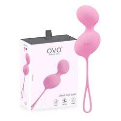 Kulki do ćwiczenia mięśni Kegla Ovo L3 - kolor różowy