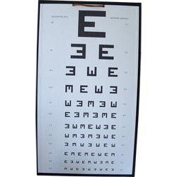 Tablica okulistyczna literowa E widełki