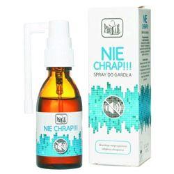 Spray NIE CHRAP skutecznie redukuje odgłosy chrapania Zdrowie i Uroda