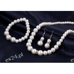 Komplet VERONICA perły naszyjnik, kolczyki, bransoletka Pozostałe