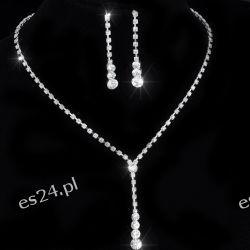 Komplet bizuterii ELENA naszyjnik i kolczyki Biżuteria i Zegarki
