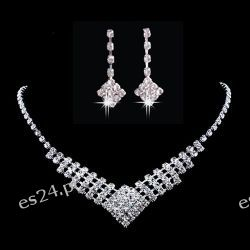 Komplet biżuterii CLEO naszyjnik i kolczyki Na rękę