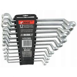 KLUCZE OCZKOWE ODGIĘTE 6-32 mm 12 szt KLIP VERKE V35385 Narzędzia i sprzęt warsztatowy