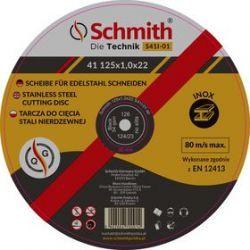 Schmith Tarcza do cięcia stali nierdzewnej 125x1,0x22 S41I-01 Spodnie