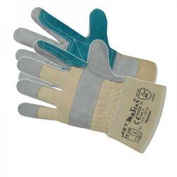 Rękawice ochronne wzmacniane skórą bydlęcą RBPOWER Odzież