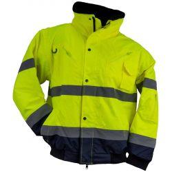Kurtka ostrzegawcza URGENT HSV krótka 3 W 1 żółta Wodery i spodnie