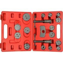 Zestaw 18 elementów do wyciskania tłoczków hamulcowych SILVER 10606 Narzędzia i sprzęt warsztatowy