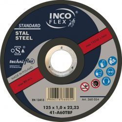 Tarcza do cięcia STAL 125/1.0 mm INCO-FLEX  Nasadowe
