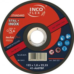 TARCZA DO CIĘCIA STAL+INOX 115x1,0 INCO-FLEX Nasadowe