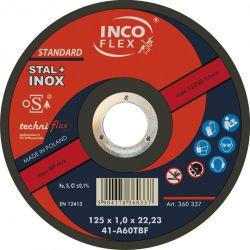 TARCZA DO CIĘCIA STAL+INOX 230x1,9 INCO-FLEX Płaskie, oczkowe, płasko-oczkowe