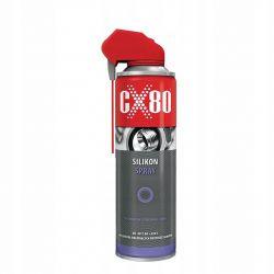 CX80 - SILIKON SPRAY 500ML DUO SPRAY Bezbarwny smar do tworzyw sztucznych i gumy (237)
