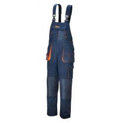 7873E - Spodnie robocze na szelkach, lekkie, materiał T/C, 180 g/m?, z wstawkami Oxford, granatowe Pozostałe