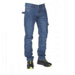 Spodnie z dżinsu ze streczem Beta 7528 Płaskie, oczkowe, płasko-oczkowe