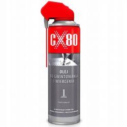 CX80 - OLEJ DO GWINTOWANIA I NAWIERCANIA 500ML DUOSPRAY -Do skrawania metali żelaznych i nieżelaznych (282) Chemia