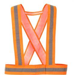 HV55 - Szelki z taśmą ostrzegawczą Pomarańczowy Przemysł