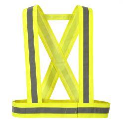 HV55 - Szelki z taśmą ostrzegawczą Żółty