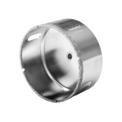 Otwornica diamentowa 45mm z galwanicznie naniesionym nasypem diamentowym, verkatto VR-6855 Płaskie, oczkowe, płasko-oczkowe