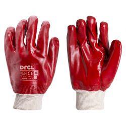 Rękawice ochronne wykonane z PVC do pracy przy oleju, zakończone ściągaczem, rozmiar 10-XL, Drel, CON-SGA-2215  Przemysł