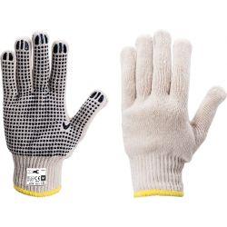 I-RDP28  Rękawice nakrapiane PVC, bawełna, rozmiar 8-M Przemysł